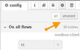 view-unused-configuration-nodes