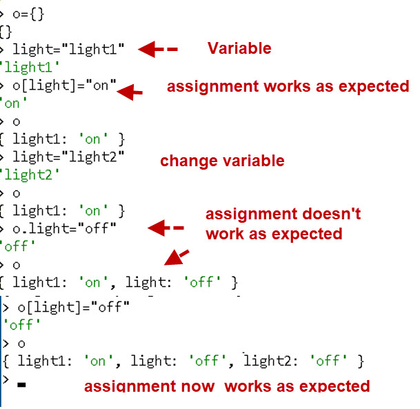 Variables-javascript-objects