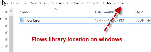 node-red-library-location-windows